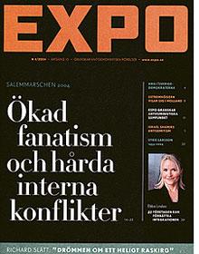 Tidskriften EXPO hycklar