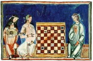 Andalusiska muslimska kvinnor studerar schack (1300-tal)