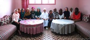 Wazzaniyyahs studenter tillsammans med Shaykh Abdulkabir Moutaqqi, khalifa till Shaykh Dr Abdalqadir as-Sufi i Marocko