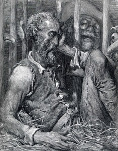 Don Quijote, hånad av den skrattande pöbeln