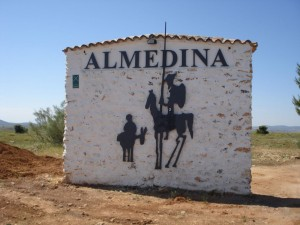 Don Quijote - på en husfasad i andalusiska Valencia