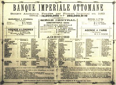 Banque Imperial Ottomane - symbolen för det sönderfallande kalifatet som inkorporerat ocker i styret