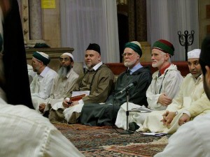 Shaykh Abdalhaqq Bewley Tillsammans Med Ali Laraki Och Abdassamad Clarke P Dr Abdalqadir