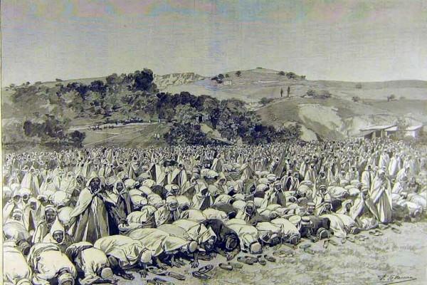 Eid-bön i malikitiska Algeriet