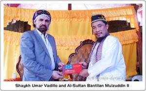 Sultan Bantilan Muhammad Muizzuddin II av Sultanatet i Sulu i södra Filipinerna