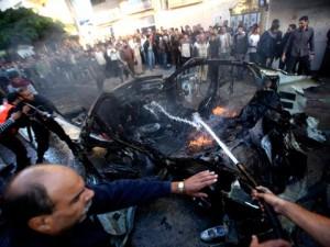 Bilen som Ahmed al-Jaabari befann sig i